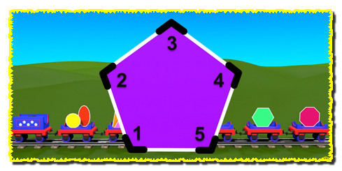 Shapes for kids kindergarten children grade 1. Learn about 2D Shapes with Choo-Choo Train - part 1