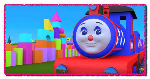 Shapes for kids children grade 1. Learn 3D shapes (geometric solids) with Choo-Choo train - part 2
